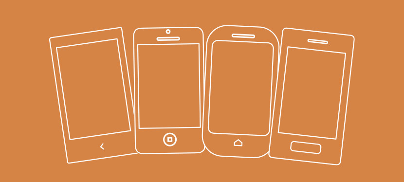 Graphic of different smartphones fanned out.